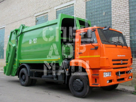 Покупайте Мусоровоз КамАЗ с задней загрузкой КО-427-72 и другие модели на шасси КамАЗ, ГАЗ, МАЗ, HYUNDAI, Dongfeng по выгодной цене в СПЕЦДОРМАШ!