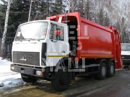 Покупайте Мусоровоз МАЗ с задней загрузкой КО-427-90 и другие модели на шасси КамАЗ, ГАЗ, МАЗ, HYUNDAI, Dongfeng по выгодной цене в СПЕЦДОРМАШ!