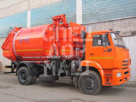 Покупайте Мусоровоз КамАЗ с боковой загрузкой КО-449-05 и другие модели на шасси КамАЗ, ГАЗ, МАЗ, HYUNDAI, Dongfeng по выгодной цене в СПЕЦДОРМАШ!