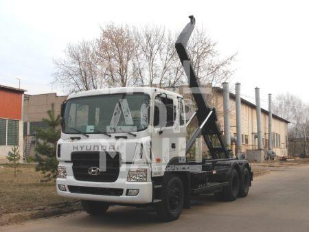 Покупайте Мусоровоз HYUNDAI контейнерный КО-452-12 и другие модели на шасси КамАЗ, ГАЗ, МАЗ, HYUNDAI, Dongfeng по выгодной цене в СПЕЦДОРМАШ!