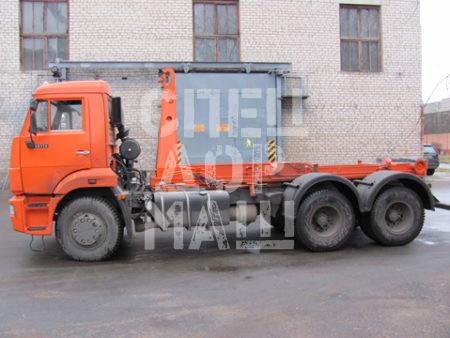 Покупайте Мусоровоз КамАЗ контейнерный КО-452-13 и другие модели на шасси КамАЗ, ГАЗ, МАЗ, HYUNDAI, Dongfeng по выгодной цене в СПЕЦДОРМАШ!