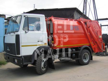 Покупайте Мусоровоз МАЗ с задней загрузкой КО-456-10 и другие модели на шасси КамАЗ, ГАЗ, МАЗ, HYUNDAI, Dongfeng по выгодной цене в СПЕЦДОРМАШ!