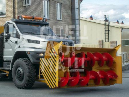 Покупайте Шнекороторный снегоочиститель УРАЛ-NEXT 001-СА и другое оборудование для уборки снега по выгодной цене в СПЕЦДОРМАШ!