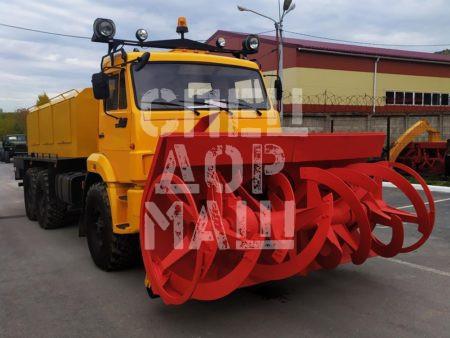 Покупайте Фрезерно-роторный снегоочиститель КамАЗ 103-СА и другое оборудование для уборки снега по выгодной цене в СПЕЦДОРМАШ!