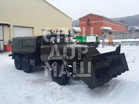 Покупайте Фрезерно-роторный снегоочиститель УРАЛ 101-СА и другое оборудование для уборки снега по выгодной цене в СПЕЦДОРМАШ!