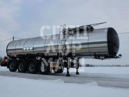 Покупайте Битумовоз четырехосный полуприцеп стальной SF4B30 и другое прицепное оборудование по выгодной цене в СПЕЦДОРМАШ!