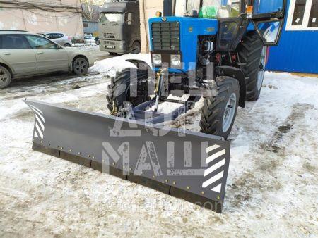 Покупайте Отвал коммунальный КО-2 (гидравлический поворот) и другое навесное оборудование для МТЗ по выгодной цене в СПЕЦДОРМАШ!