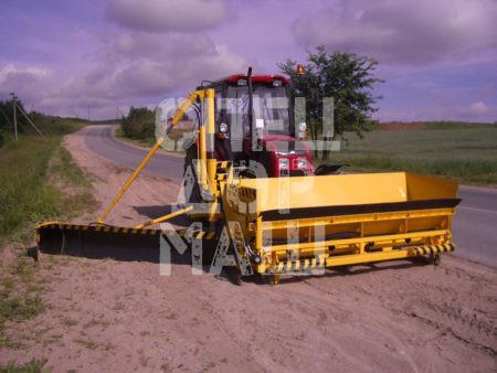 Покупайте Укладчик обочин МК-2300 на трактор МТЗ и другое оборудование для отсыпки и укладки обочин по выгодной цене в СПЕЦДОРМАШ!